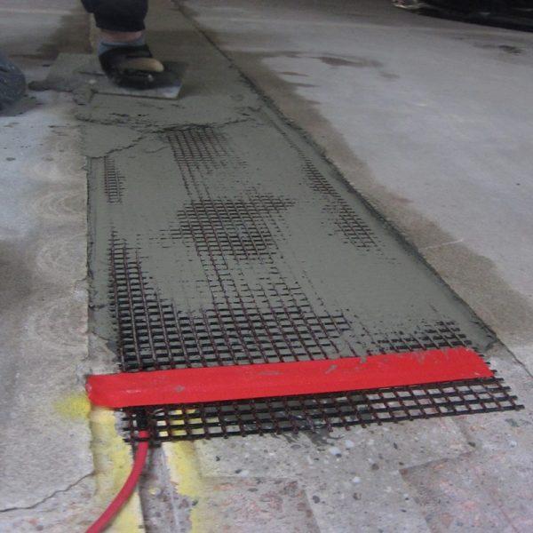 Elektrische Kontaktierung Carbonbeton, KKS, Kathodischer Korrosionsschutz, Punktschweißen, Titanband, Anschluss